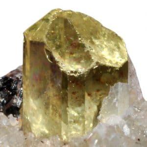 apatite jaune cristal brut