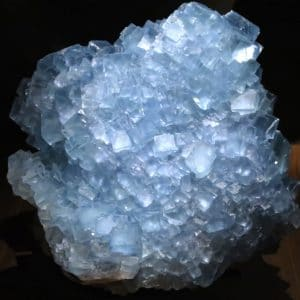 Fluorite bleue brute