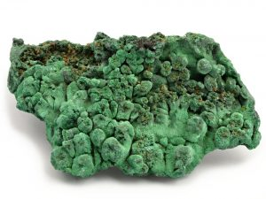 malachite fibreuse brute