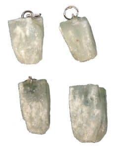 apophyllite verte en pendentif
