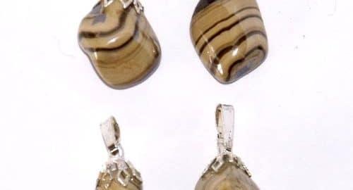 pendentifs en pierre de blende
